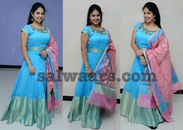 Chitra Lekha Sky Blue Salwar