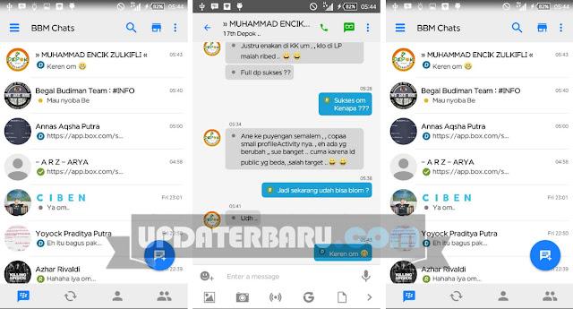 BBM Mod White Tema Seperti iOS/Iphone