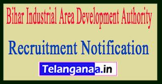 Bihar Industrial Area Development Authority BIADA Recruitment Notification 2017