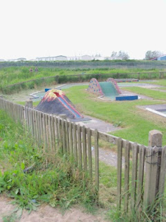 Crazy Golf at the Lakeside Boating Lake in Chapel St Leonards in Lincolnshire