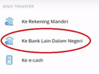Gambar 3 cara transfer via mandiri online ke bank lain