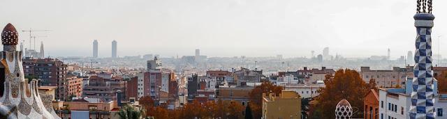 Panorámica de Barcelona desde el Parc Güell