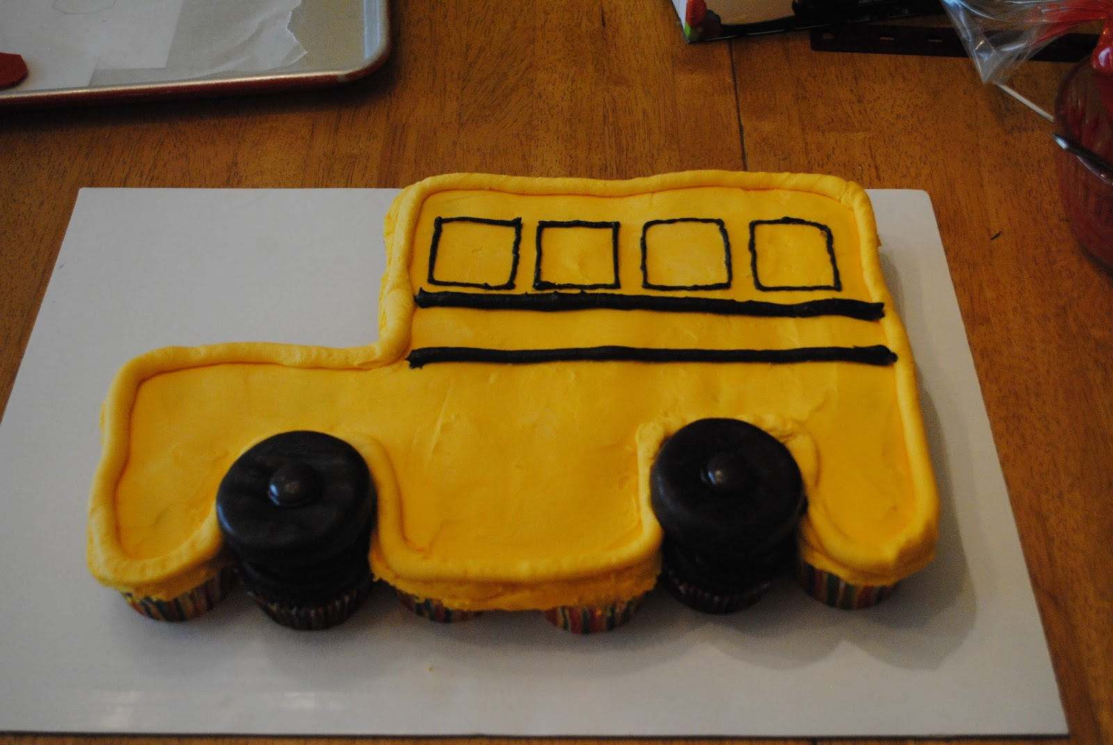 Juli Jacklins Cupcakes School Bus Cupcakes And School Bus Pull
