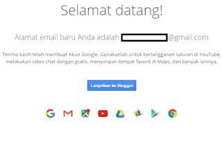 Email Anda berhasil di Buat