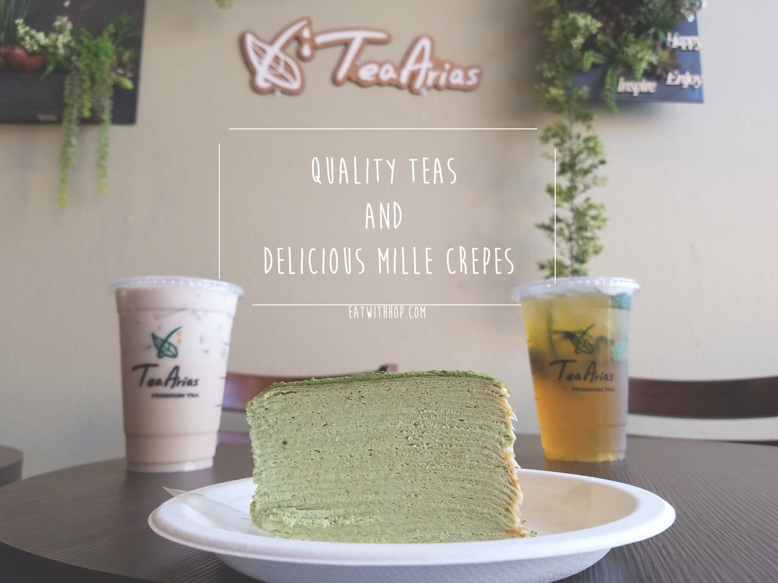 Quality Teas & One Of The Best Mille Crepes Ever @ Tea Arias - Huntington Beach