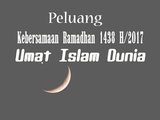 Peluang Kebersamaan Ramadhan 2017 Umat Islam di Indonesia dan Dunia