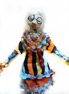 OOAK Folk Art Doll to honor Iris Apfel fashion icon