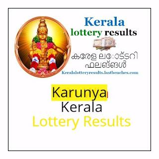 Kerala Karunya  lottery results -Karunya kr lottery