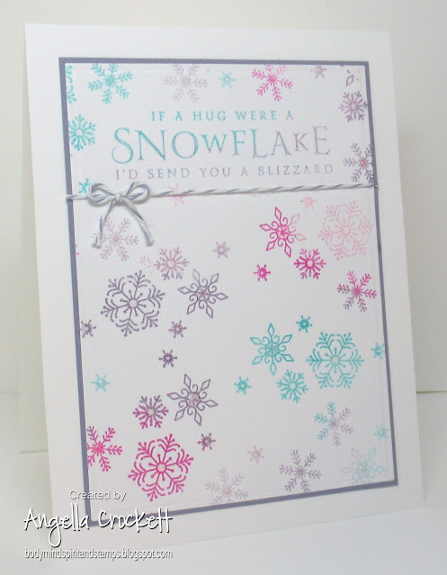 Stampin Up Beautiful Blizzard, Card Designer Angie Crockett