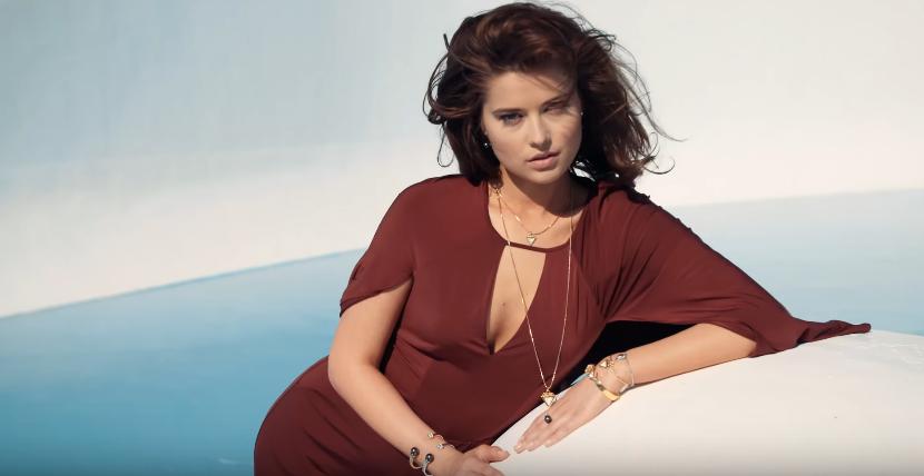 Canzone Guess pubblicità con modella con vestito bordoux - Musica spot Novembre 2016