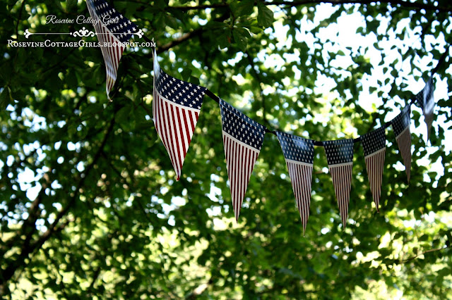 Independence Day Party, 4th of July Party, by Rosevine Cottage Girls