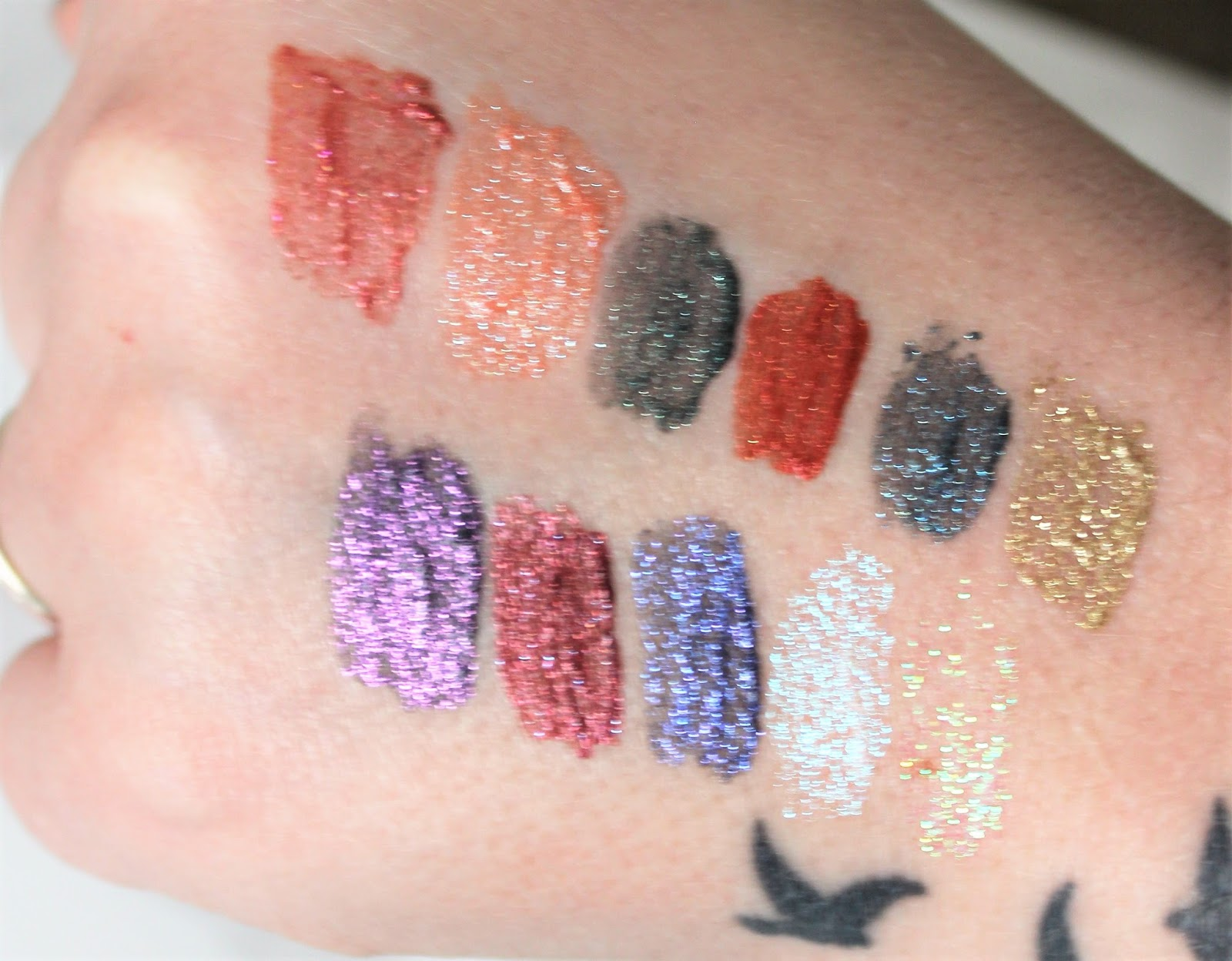 Urban Decay Glitter Lipstick Swatches