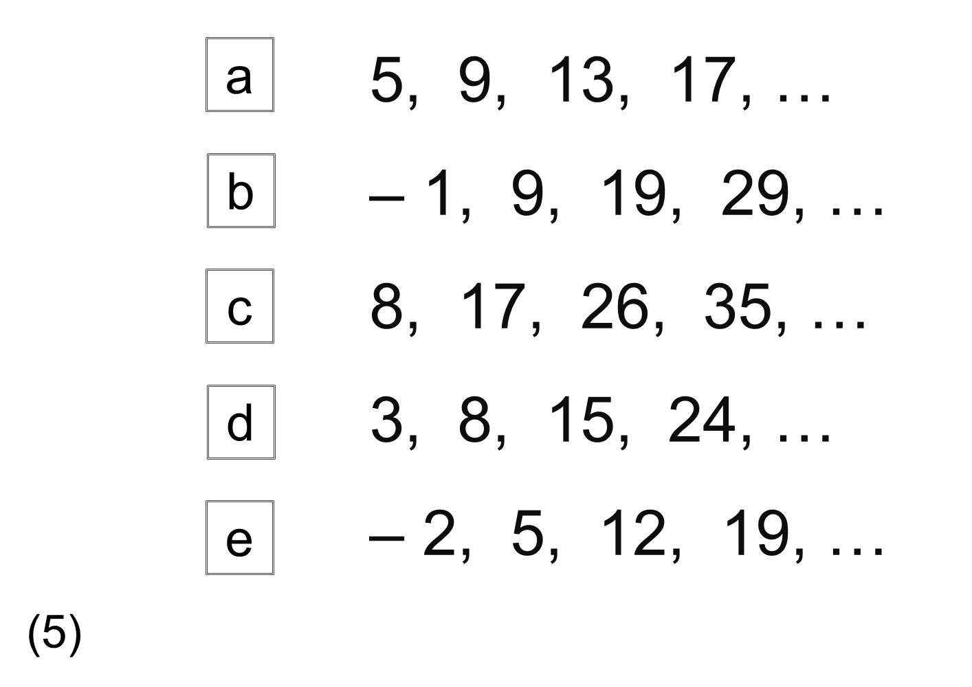 MEDIAN practice and quiz questions: odd one out 1