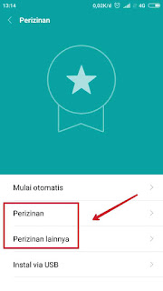 Setting Izin Aplikasi Xiaomi 2