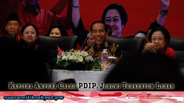 Kapitra Ampera Caleg PDIP, Jokowi Tersenyum Lebar