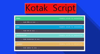 Cara Membuat Kotak Script Keren Dipostingan Blog
