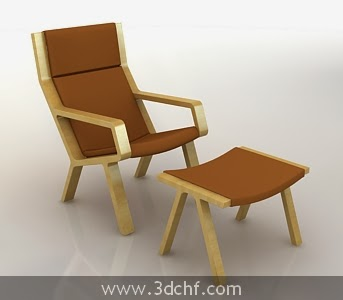 poolside chair 3d model