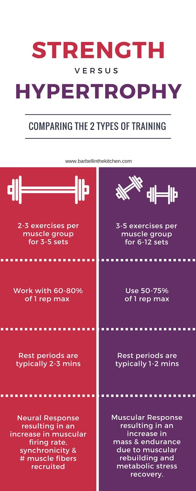Barbell in the Kitchen: Hypertrophy vs Strength Training