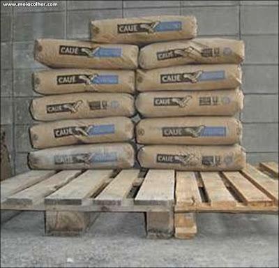armazenamento do cimento em pallets