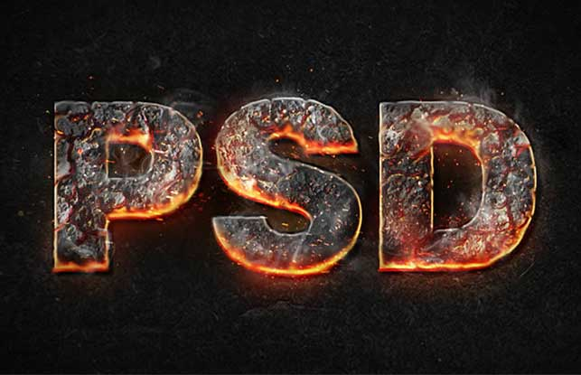 Create a Magma Hot Text Effect in Photoshop @ Webdesignerpad