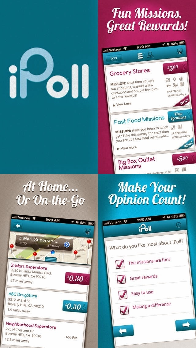 iPoll mobile app images