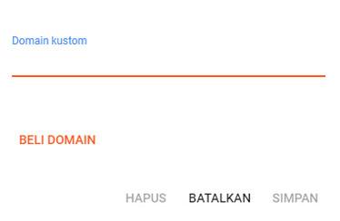 Cara membuat sub domain di blogger