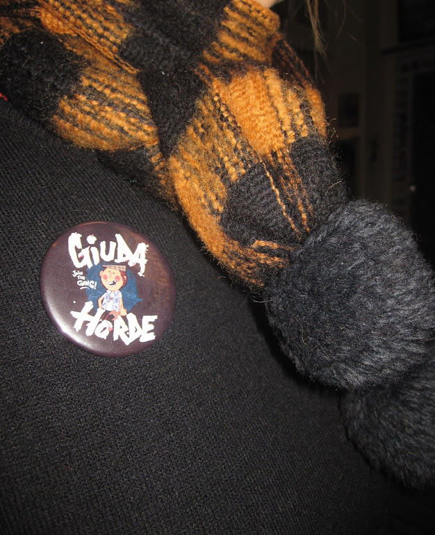 Giuda Horde badge pinback button pin