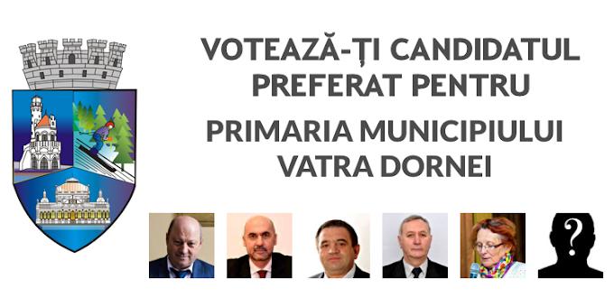 Votează-ți candidatul preferat pentru Primăria Vatra Dornei - SONDAJ DE OPINIE
