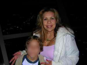 Arnold Schwarzenegger's mistress Mildred Patricia Baena and son