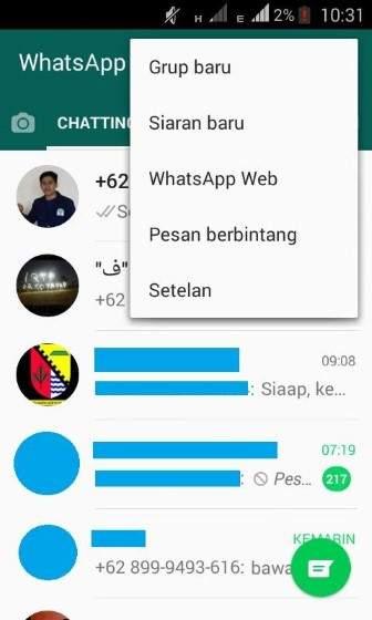 Masuk Pengaturan WhatsAppmu