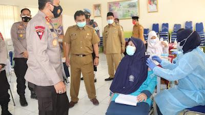 Selama PPKM Darurat Polda Banten Sudah Memvaksin 27.430 Orang