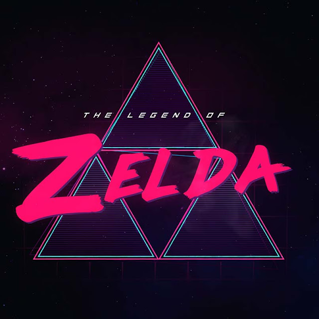 Legend of Zelda Cyberpunk Triforce Logo Wallpaper Engine