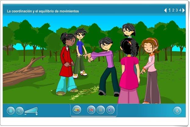 """""""La coordinación y el equilibrio de movimientos"""" (Aplicación interactiva de Ciencias Naturales de Primaria)"""