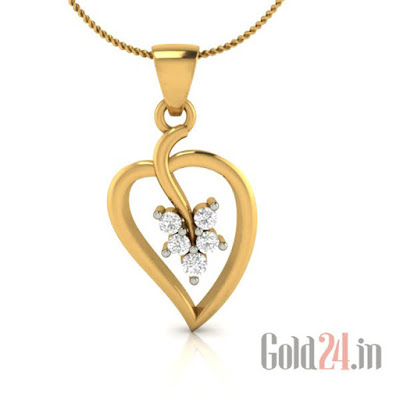 Demira Gold Pendant with Diamonds