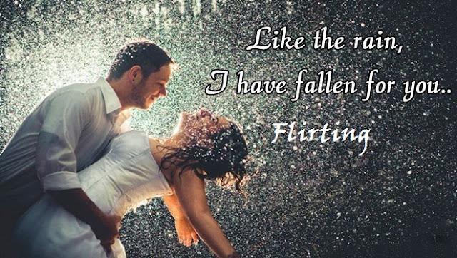 Flirting Day Rain Whatsapp Status DP