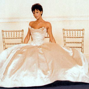 Then The Wedding Dress Is With A Chapel Train Of Round Shape Looking From Side Skirt Very Long But Dragging On Ground