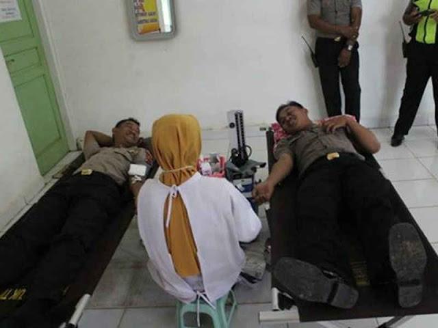 Peringati HUT Polwan Ke 70 Polres Mappi Gelar Aksi Donor Darah