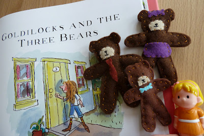 Goldilocks and the Three Bears story sack