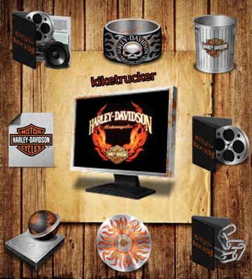 Iconos Estilo Harley-Davidson