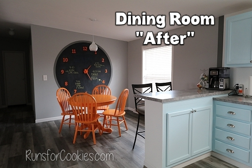 "The final product--the ""after"" photo of the dining room!"