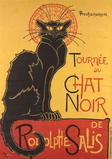 plakat pierwszego kabaretu w Paryżu