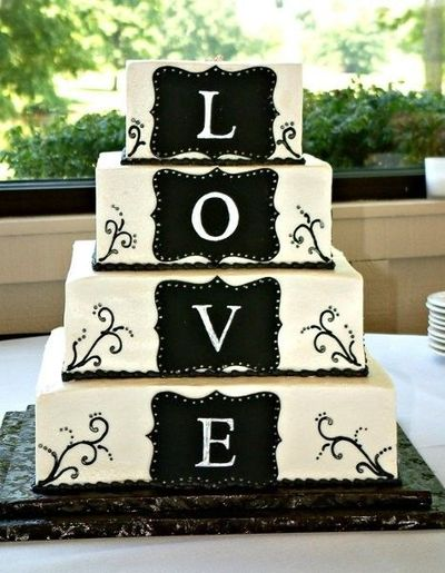 Amazing Black And White Wedding Cakes [40 Pic]
