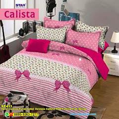 Sprei Custom Katun Lokal Dewasa Calista Pink Pattern Pink Salem