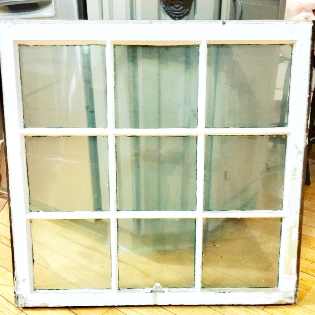 Vintage windows can be made into beautiful projects.