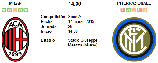 AC Milan vs Inter de Milan en VIVO