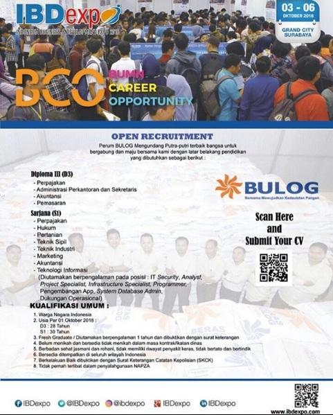 Lowongan Perum BULOG Via Acara BUMN Career Opportunity