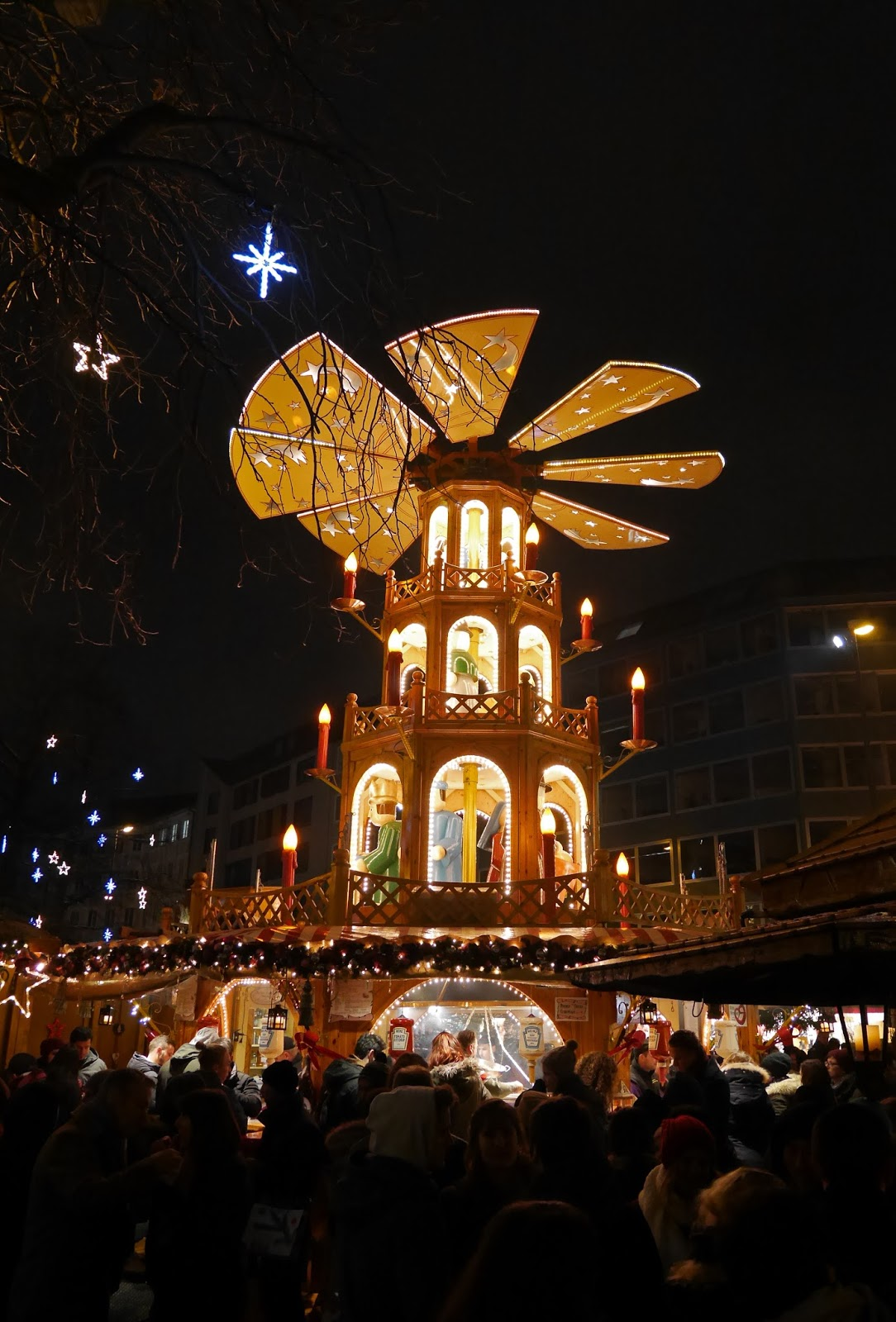 Munich Christmas Markets at night