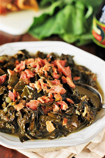 Collard Greens with Chopped Ham Hocks Image