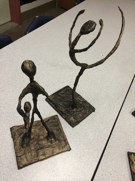 Svla Art Room Giacometti Armature Sculptures