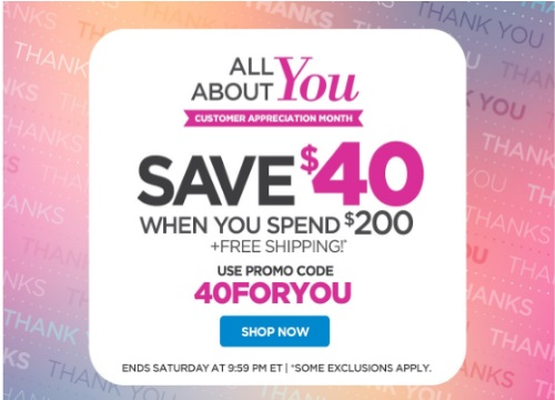 The Shopping Channel Save $40 Off When You Spend $200 Promo Code